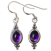 Amethyst Earrings in Sterling Silver