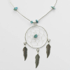 Large Turquoise Dreamcatcher Necklace 18
