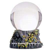110mm Crystal Ball with Mother Maiden Crone Stand