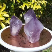Amethyst Points with Flat Base