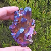 Titanium Rainbow Aura Crystal Group #12