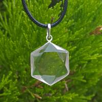 Quartz Crystal Star of David Pendant