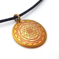 Sri Yantra Talisman in Brass and Copper
