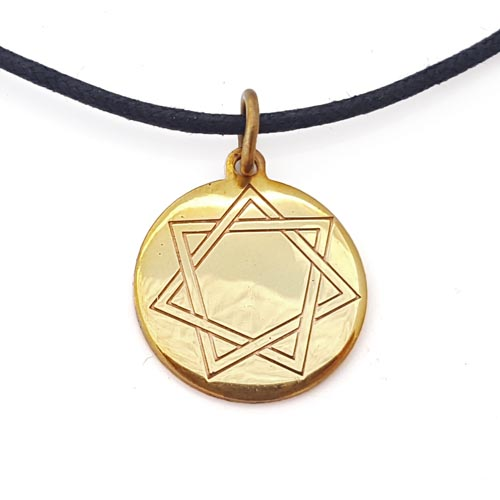 Heptagram amulet in brass copper brass copper magical heptagram amulet in brass copper aloadofball Choice Image