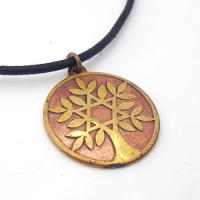 Tree of Life Talisman in Brass and Copper
