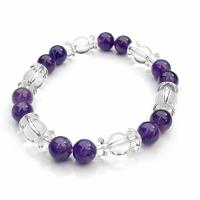 Amethyst & Quartz Beaded Bracelet