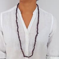 "36"" Garnet Chip Necklaces"