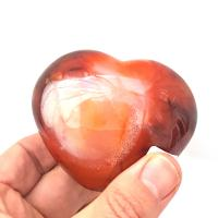 Large Carnelian Puff Heart No1