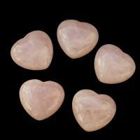 Rose Quartz Puff Heart 40mm