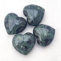 Kambamba Jasper Puff Heart 40mm