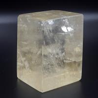 Golden Optical Calcite Rhombohedron No9