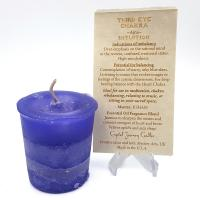 Third Eye Chakra Votive Candle by Crystal Journey