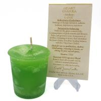 Heart Chakra Votive Candle by Crystal Journey