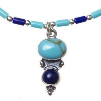 Turquoise & Lapis Native American Necklace