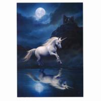 Moonlight Unicorn Card by Anne Stokes