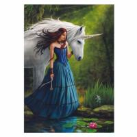 Contemplation Unicorn Card by Anne Stokes