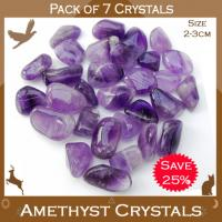 Pack of 7 Amethyst Tumble Stones