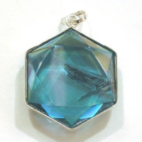Aqua Aura Star of David Pendant
