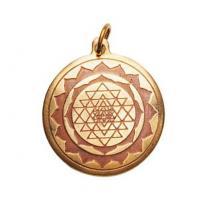 Sri Yantra Talisman in Brass and Copper