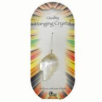 Clear Leaf Hanging Crystal