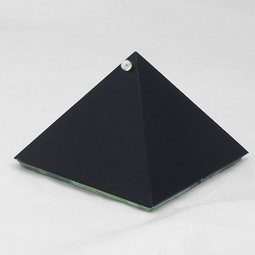 Black Glass Pyramid Box 4inch - Crystal Accessories