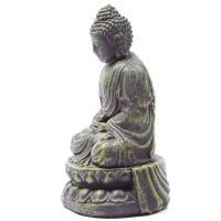 Meditating Green Buddha Ornament 21cm Tall