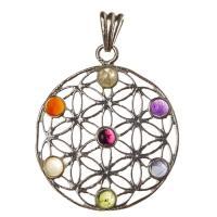 Flower of Life Chakra Mandala Pendant SP