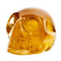 Yellow Fluorite Crystal Skull No3