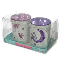 Fairy Moon Set of 2 Votive Candle Holder