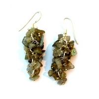 Labradorite Grape Earrings
