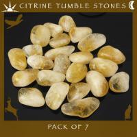 Pack of 7 Citrine Tumble Stones