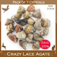 Pack of 7 Agate Crazy Lace Crystals