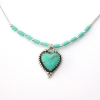 18 Turquoise Heart Necklace