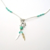 Wolf & Turquoise Necklace