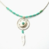 Turquoise Shield Design Necklace