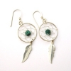Turquoise & Silver Dreamcatcher Earrings
