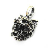 Silver Wolf Head Pendant