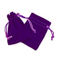 Purple Suede Pouch 6x8.cm
