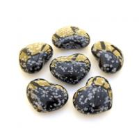 Mini Snowflake Obsidian Hearts