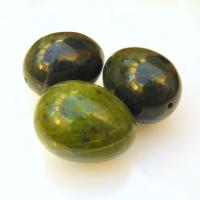 Drilled Jade Nephrite Eggs