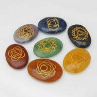 Oval Etched Chakra Crystals Stone Set