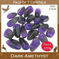 Pack of 7 Dark Amethyst Tumble Stones