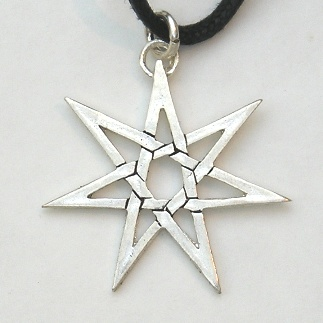 Silver heptagram pendant silver pewter magical pendants silver heptagram pendant aloadofball Gallery