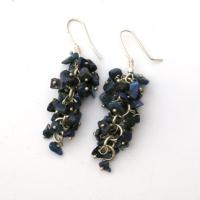 Lapis Grape Earrings