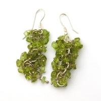Peridot Grape Earrings