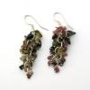 Tourmaline Grape Earrings