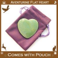 Aventurine Flat Crystal Heart