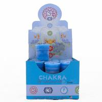 Throat Chakra Votive Candle by Crystal Journey