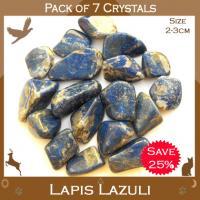 Pack of 7 Lapis Lazuli Tumble Stones