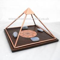 Copper Sri Yantra Charging Pyramids